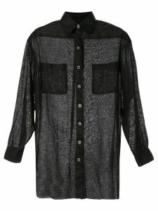 Chanel Pre-Owned linen straight shirt - Black
