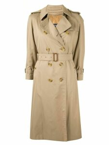 Burberry Pre-Owned over-the-knee belted trench coat - Brown