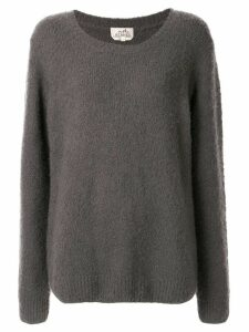 Hermès Pre-Owned textured relaxed jumper - Grey