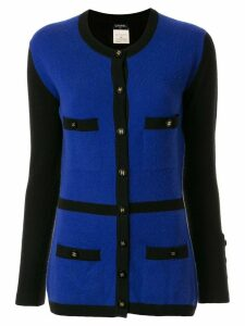 Chanel Pre-Owned cashmere 1995 multi-pockets cardigan - Blue