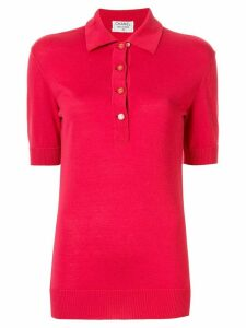 Chanel Pre-Owned logo buttons polo shirt - PINK
