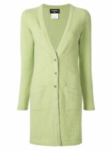 Chanel Pre-Owned cashmere buttoned elongated cardigan - Green