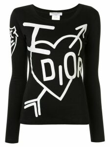 Christian Dior Pre-Owned I Dior long-sleeved T-shirt - Black
