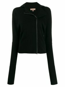 Romeo Gigli Pre-Owned 1990s off-centred zipped fitted cardigan - Black