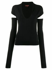 Romeo Gigli Pre-Owned 1990s cut-out knitted top - Black