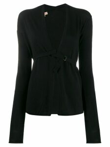 Romeo Gigli Pre-Owned 1990s strapped front cardigan - Black