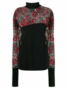 Romeo Gigli Pre-Owned 1990s sheer embroidered panels blouse - Black