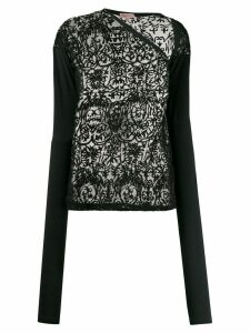 Romeo Gigli Pre-Owned 1990s embroidered sheer blouse - Black