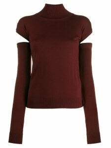 Romeo Gigli Pre-Owned 1990s cut-out detail jumper - Red