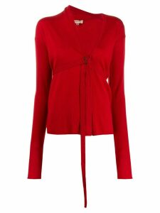 Romeo Gigli Pre-Owned 1990s strapped detail cardigan - Red