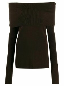 Romeo Gigli Pre-Owned 1990s off-the-shoulders knitted top - Brown