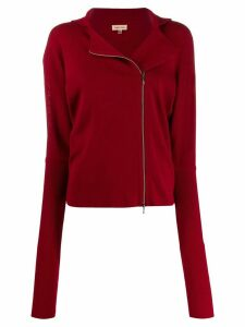 Romeo Gigli Pre-Owned 1990s off-centred zipped fitted cardigan
