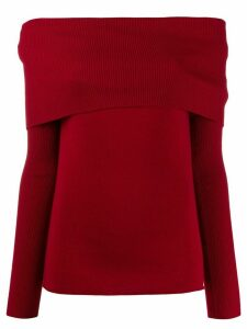 Romeo Gigli Pre-Owned 1990s off-the-shoulders knitted top - Red