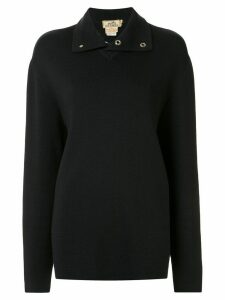 Hermès Pre-Owned wool stand-up collar jumper - Black