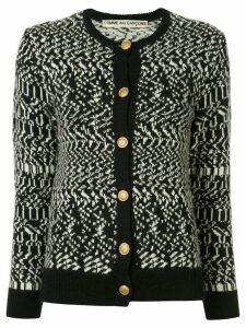 Comme Des Garçons Pre-Owned abstract weave cardigan - Black