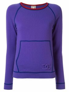 Chanel Pre-Owned Sports Line CC jumper - PURPLE