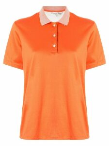 Christian Dior Pre-Owned embroidered logo polo shirt - ORANGE