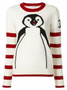 Chanel Pre-Owned intarsia knit penguin jumper - White