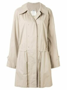 Chanel Pre-Owned oversized belted coat - Brown