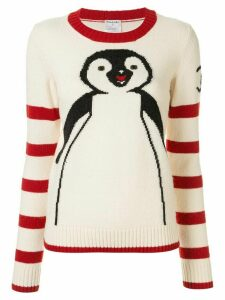 Chanel Pre-Owned penguin intarsia jumper - White