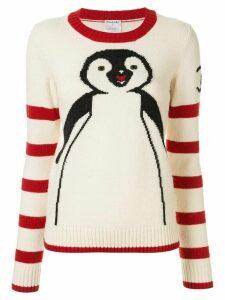 Chanel Pre-Owned penguin intarsia jumper - White