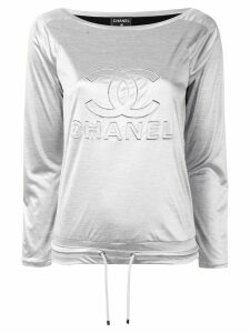 Chanel Pre-Owned CC drawstring top - Grey