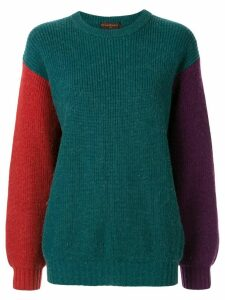 Yves Saint Laurent Pre-Owned colour-block jumper - Green