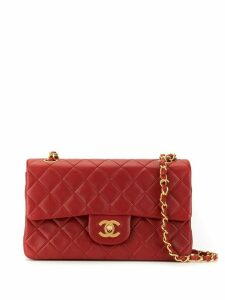 Chanel Pre-Owned quilted double flap shoulder bag - Red