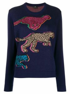 PS Paul Smith Live Faster fine knit sweater - Blue