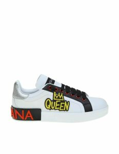 Dolce & Gabbana Sneakers Portofino In Calfskin White Color
