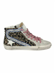 Leopard Pattern Hi-Top Sneakers