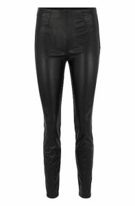 Skinny-fit trousers in faux leather with stretch