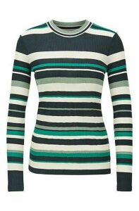 Slim-fit jersey top with collection-coloured stripes