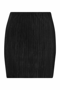 Womens Plisse Mini Skirt - black - 10, Black