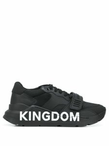 Burberry Kingdom print chunky sneakers - Black