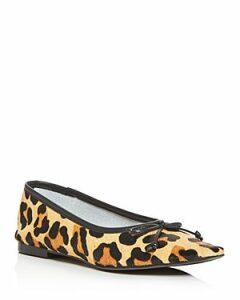 Schutz Women's Arissa Leopard Print Calf Hair Square-Toe Flats