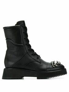 Jimmy Choo Hadley embellished-toe mid-calf boots - Black