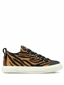 Giuseppe Zanotti tiger print sneakers - NEUTRALS
