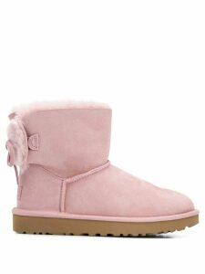 Ugg Australia sheepskin flat ankle boots - PINK
