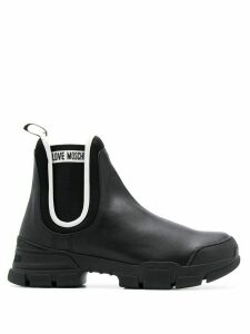 Love Moschino lug-sole Chelsea boots - Black
