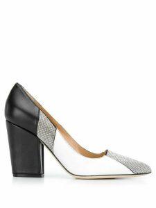 Sergio Rossi colour blocked high heel pumps - Black