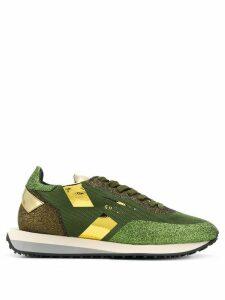 Ghoud Star glitter low-top sneakers - Green