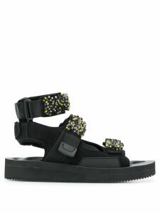 Cecilie Bahnsen x suicoke aurelia beaded sandals - Black