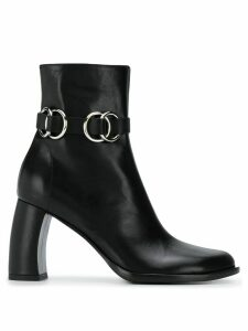 Ann Demeulemeester buckle detail ankle boots - Black