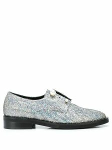 Coliac Fernanda glitter derby shoes - SILVER