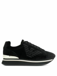 Emporio Armani logo lace-up sneakers - Black