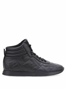 Fendi embossed FF pattern sneakers - Black