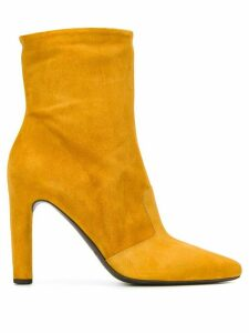 Del Carlo pointed ankle boots - Yellow