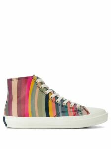Paul Smith striped hi-top sneakers - Grey