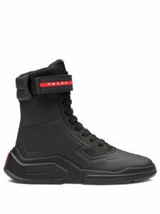 Prada Linea Rossa high-top sneaker - Black